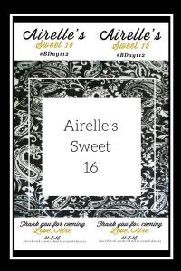 Arielle's sweet 16