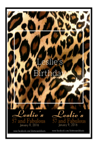 Leslie birthday