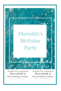 Meredith's birthday