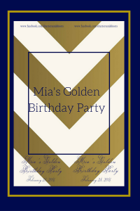 Mia's golden party